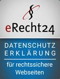 eRecht 24 Datenschutzerklärung